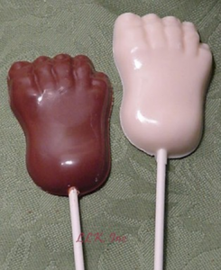 Paint-chocolate lollipops