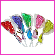 Paint-wrapped lollipops